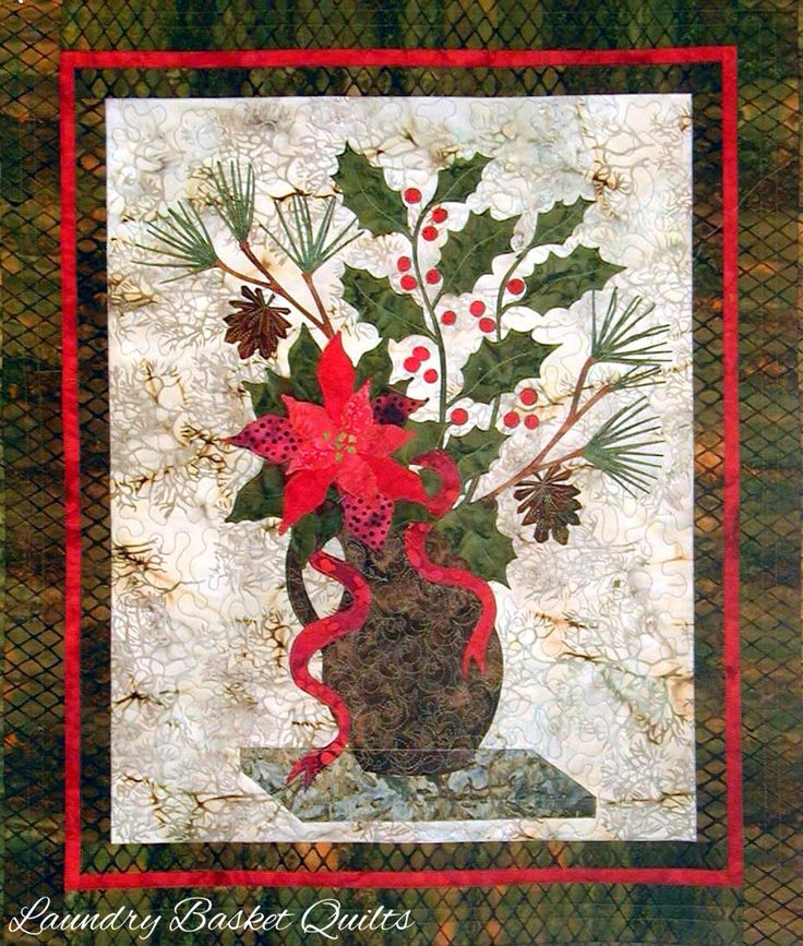 Laundry Basket Quilts - Poinsettia