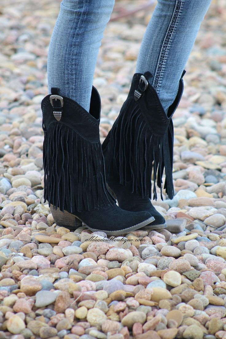 Very Volatile | Hillside Fringe Cowgirl Boots Black Very Volatile Women's Frisky Western Cowboy Boots are a must have for that fun casual night out. These boots feature: western boots features fringed