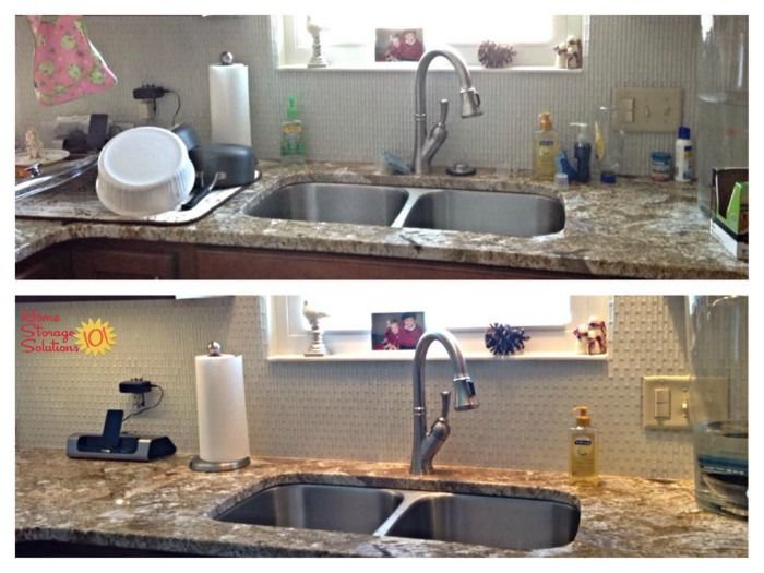 How To Declutter Your Kitchen Sink Area