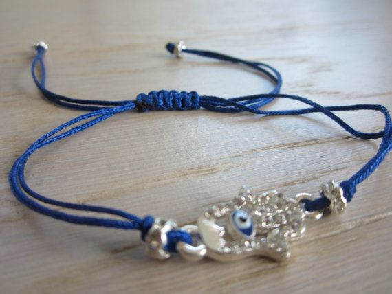 Handmade Evil eye bracelet Stackable bracelet Hamsa by MahsanAmoui