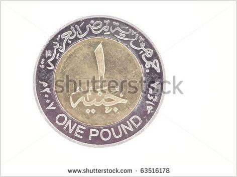One egyptian egypt pound money coin - Shutterstock