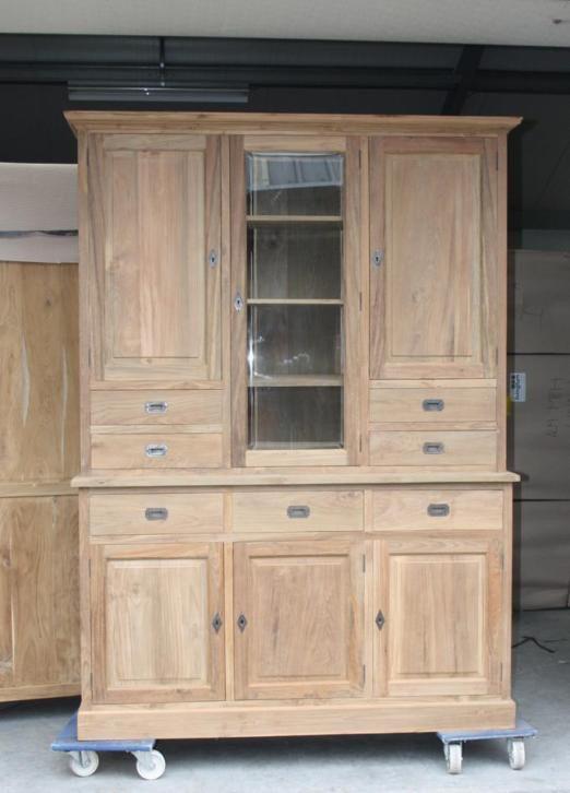 Fraai afgewerkte teakhouten keukenkast te koop bij Indoteak