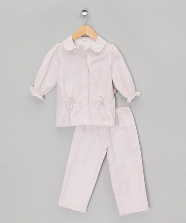 Take a look at this Pink Ruffle Classic Long Pyjamas - Toddler & Kids by La Piyama on #zulily today!