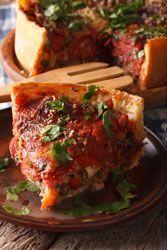 Tarte poulet, champignons, tomates