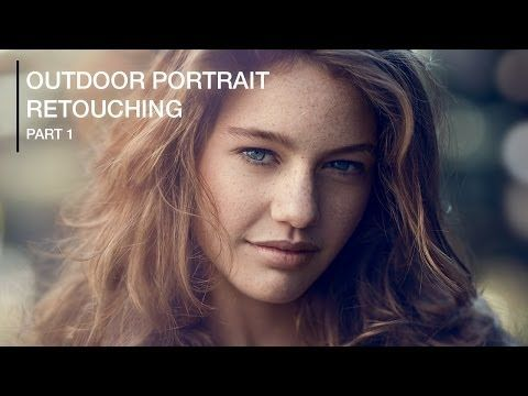 Outdoor Portrait Retouching Photoshop (Part 1) - frequency separation adjust skin tones & dodging/burning