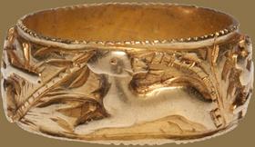RENAISSANCE HUNTING RING  Spain, c. 1500-1600, Gold