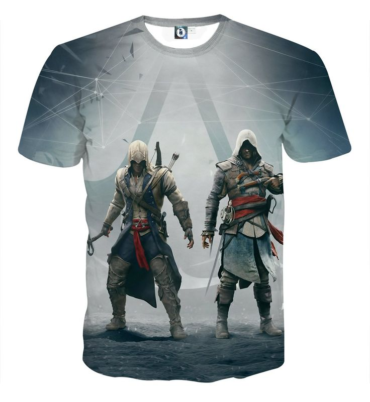 Assassin's Creed Connor And Edward Cool Style Full Print Hoodie    #Assassin'sCreed #Connor #And #Edward #Cool #Style #FullPrint #Hoodie