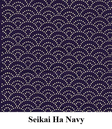 Seikai Ha Navy Fabric // The fabric for my Japanese futon
