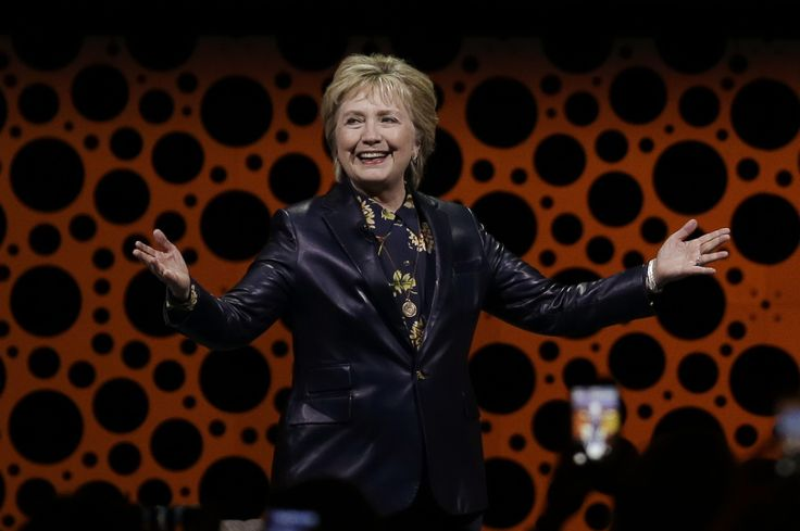Hillary Clinton traded her pantsuit for a black leather jacket — an international symbol for being an unapologetic badass. That's a boss move.