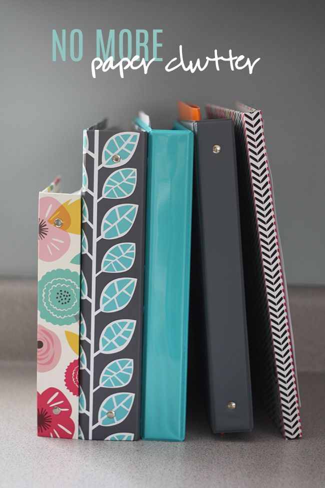 How to get rid of the paper clutter in your house using an organised binder system to keep everything organised and contained