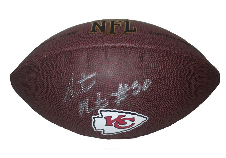 KC Chiefs Justin Houston signed NFL Wilson full size football w/ proof photo.  Proof photo of Justin signing will be included with your purchase along with a COA issued from Southwestconnection-Memorabilia, guaranteeing the item to pass authentication services from PSA/DNA or JSA. Free USPS shipping. www.AutographedwithProof.com is your one stop for autographed collectibles from Kansas City sports teams. Check back with us often, as we are always obtaining new items.