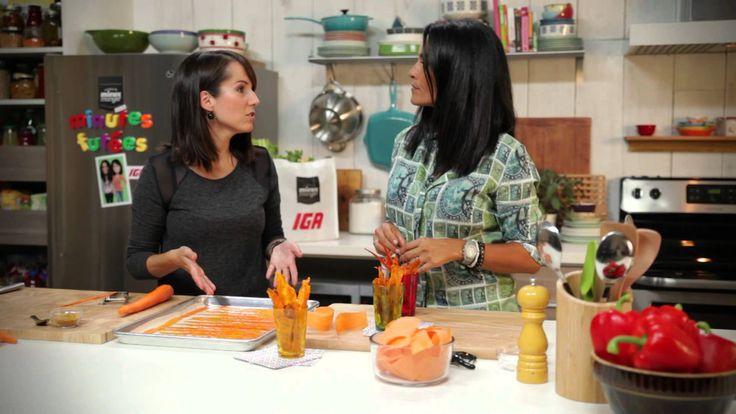 Minutes futées:Chips de carottes et de patates douces