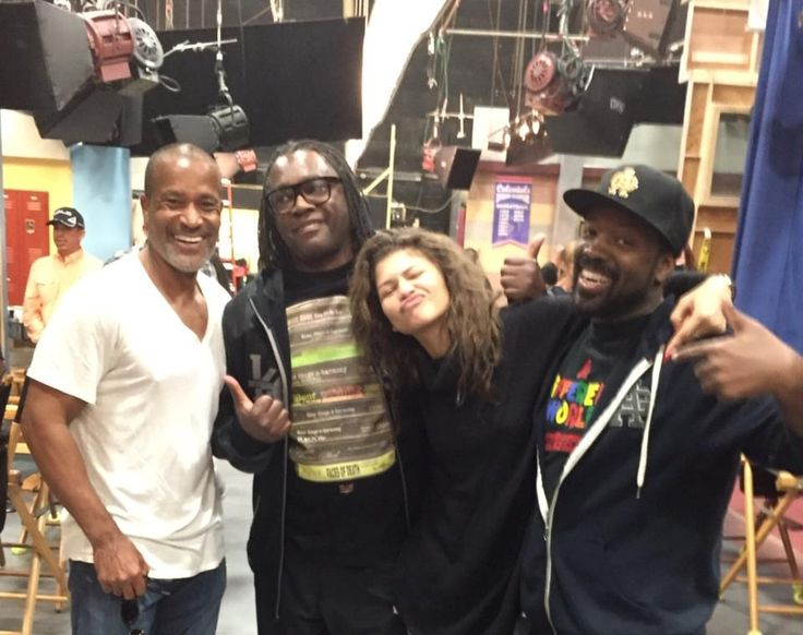 """Phil Morris on Twitter: """"Spending time on the set of @/Zendaya new show with her NEW tv dad Kadeem Hardison and her REAL dad, Kazembe."""""""