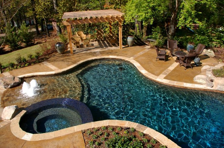 Oxford, MS- Custom Gunite Pool designed & built by Michael Hatcher & Associates, Inc. www.hatcherlandscape.com