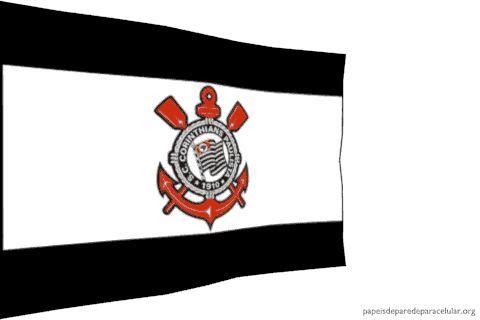 Papel de Parede para Celular - Gif Animado Bandeira do Corinthians 480x320