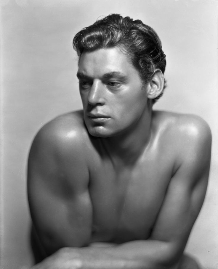 Johnny Weissmuller 1932 - This photo was taken by George Edward Hurrell who was born on June 1, 1904 in Cincinnati, Ohio and was considered the Master of Hollywood Glamour Photography.