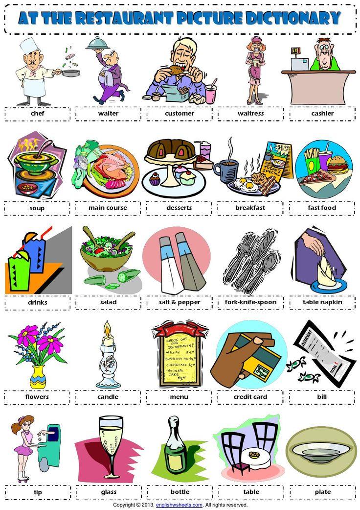 Basic English vocabulary for restaurants - YouTube