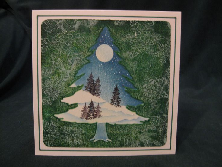 Christmas card 2015 using Clarity stamps