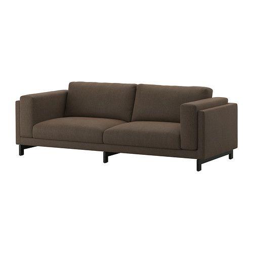 NOCKEBY Sofa - Tenö brown, wood - IKEA