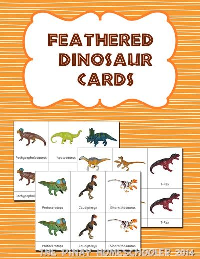 Free Feathered Dinosaur Cards from The Pinay Homeschooler