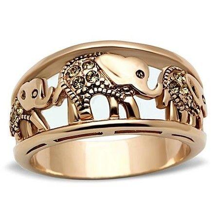 Rose Gold Elephant Ring