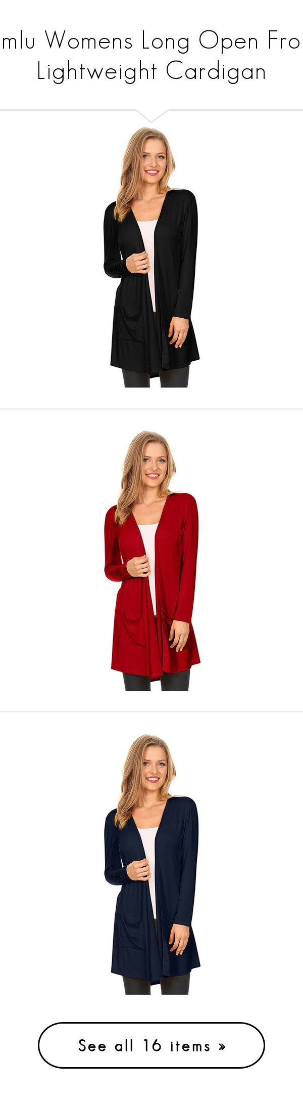 """""""Simlu Womens Long Open Front Lightweight Cardigan"""" by simlu-clothing on Polyvore"""