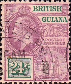 British Guiana 1921 George V Head and Ship SG 278 Fine Used SG 278 Scott 197 Other British Commonwealth Empire and Colonial stamps Here