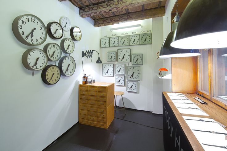 """Happy Hours DesignSUPERMARKET is an international festival of contemporary design in Prague founded in 2007. Nanovo has appeared for the third time at this festival! At this year's designSUPERMARKET held at the Dům U Minuty, we created the installation entitled Happy Hours. There we introduced our collection of industrial clocks and wrist watches Prim. Installation was complemented with other objects that subtly enhanced the atmosphere of NANOVO's """"watchmaking shop"""".     Photography by…"""