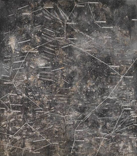 Anselm Keifer, Cette obscure clarté qui tombe des étoiles, 1999, Mixed media, support: 4700 x 4000 mm object: 3400 x 1650 x 1100 mm