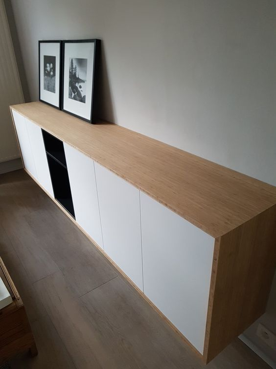 a chic contemporary floating sideboard of IKEA Metod ...