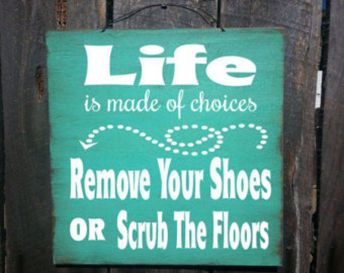 sil vous plaît retirer vos chaussures signe sil vous plaît