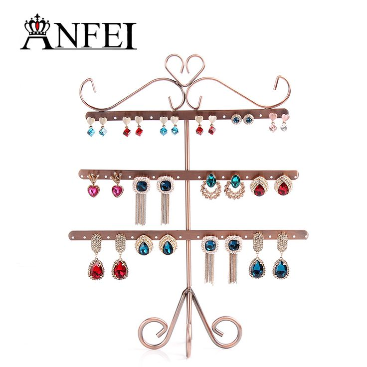 >> Click to Buy << ANFEI 9 Style Jewelry Display Shelf Display Shelf Rack Jewelry Stand Display Stand For Jewelry Jewelry Holder Earring Display #Affiliate