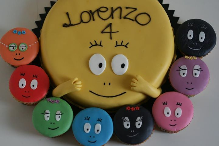 barbapapa cupcakes idea