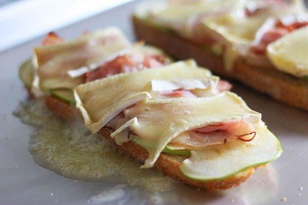 ハムとりんごのサンドイッチ