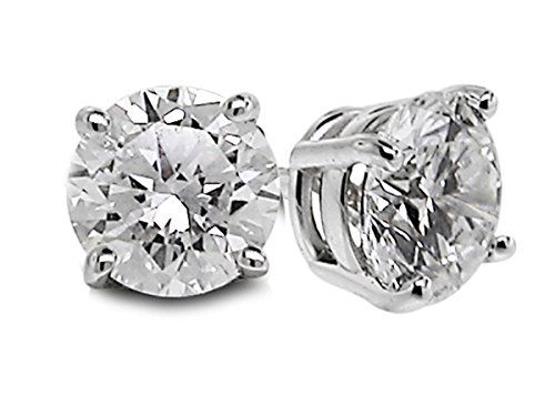 Diamond Studs Forever 1/5 Carats Total Weight Solitaire Diamond Earrings I2-I3 14K White Gold  http://stylexotic.com/diamond-studs-forever-15-carats-total-weight-solitaire-diamond-earrings-i2-i3-14k-white-gold/