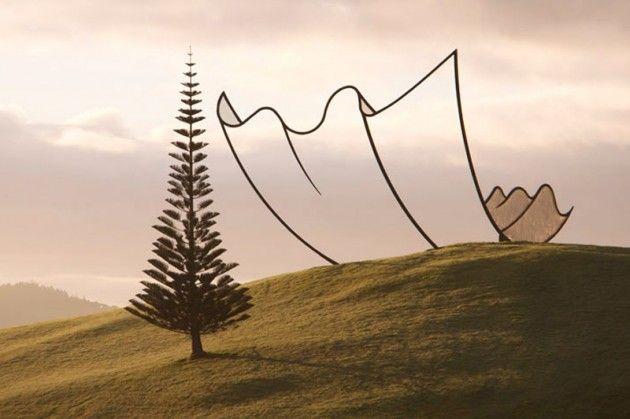 """Neil Dawson sculpture """"Horizon"""""""