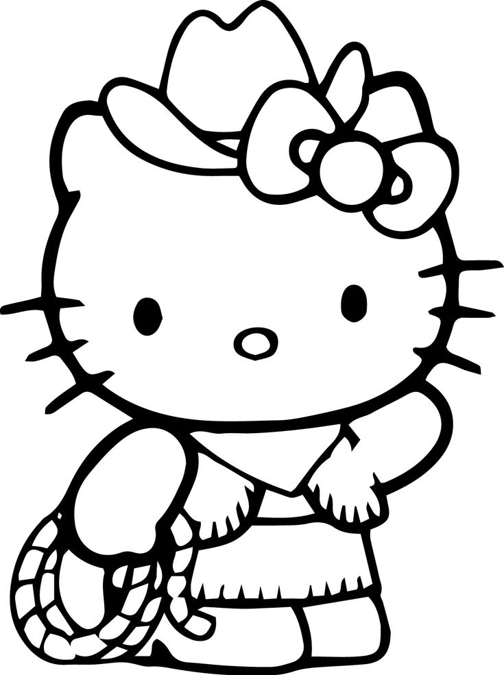a coloring pages of hello kitty | Hello Kitty Coloring Pages | Hello kitty colouring pages ...