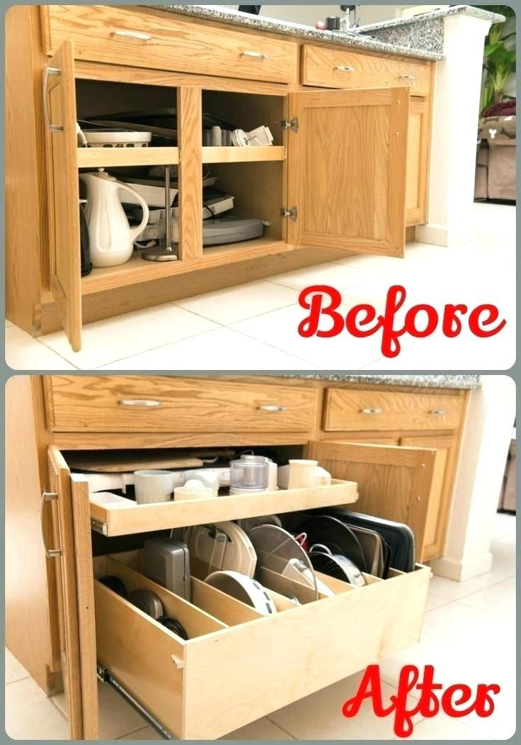 Sliding Cabinet Shelves Pull Out Trays For Kitchen Cabinets