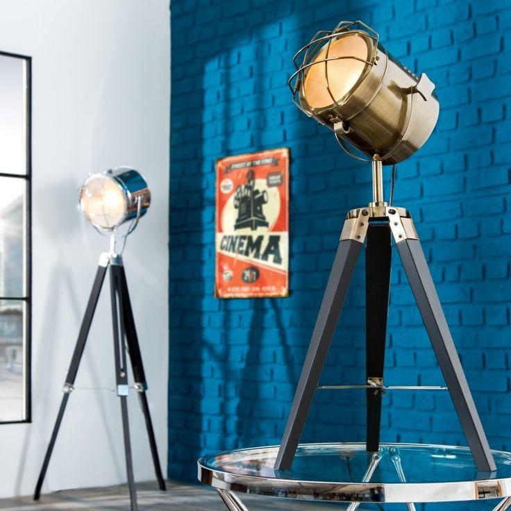 Vloerlamp driepoot 65cm brons/zwart - 36843