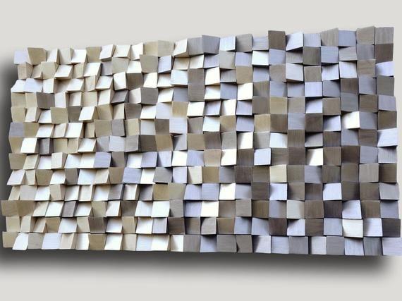 Modern Gold And Silver Wall Decor 3d Wood Wall Art Textured Etsy Silver Wall Decor Wooden Wall Hangings Wood Wall Art