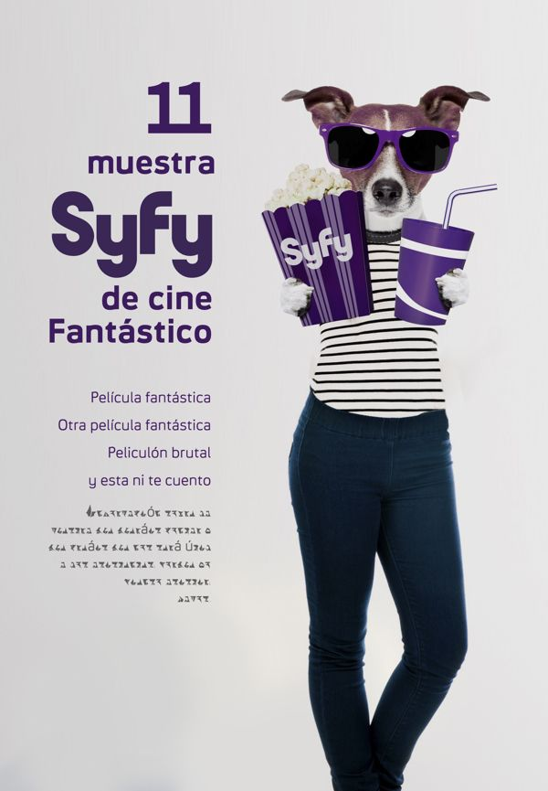 Gurulab Diseño Gráfico • ahora mismo  Poster to the 11th Syfy Fantastic Film Festival. You can vote for theme here on page 1 on.fb.me/1fVhU0D Thanks!