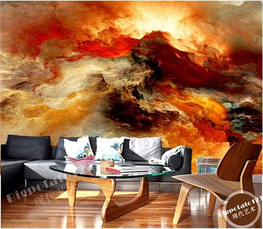Пользовательские потолок обои, Звезда туманности маслом для спальня гостиная потолок водонепроницаемый обои papel де parede