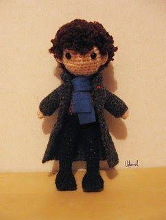 2000 Free Amigurumi Patterns: Sherlock Holmes Amigurumi....going to get my Sherlock on!