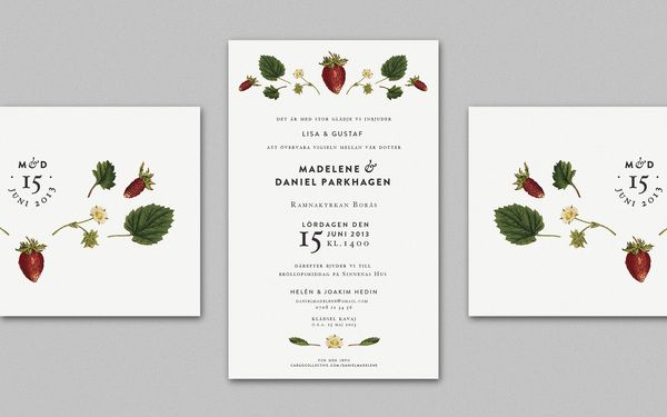 Wedding Invitation, by Cecilia Hedin
