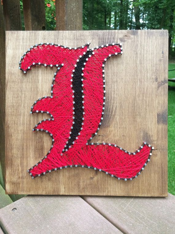 University of Louisville Cardinals String Art MADE TO by My3Maries