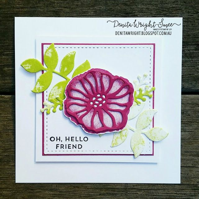 Denita Wright - Independent Stampin' Up! Demonstrator: Global Design Project - 'Colour Challenge' #gdp093