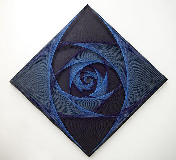Se LEVANTÓ DEL ESPACIO arte de cadena geometría por MagicLineStore