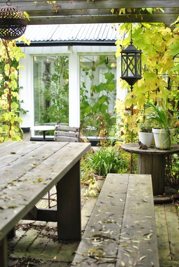 hannashantverk.blogspot.se höst trädgård under pergola humle kabeltrumma