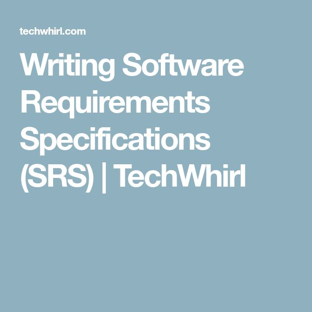 The 25+ best Software requirements specification ideas on - business requirements document template