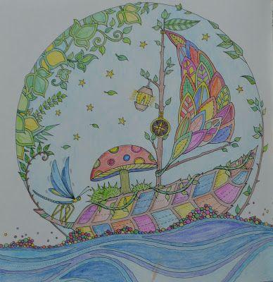 Johanna Basford: Enchanted Forest coloring book - sailing